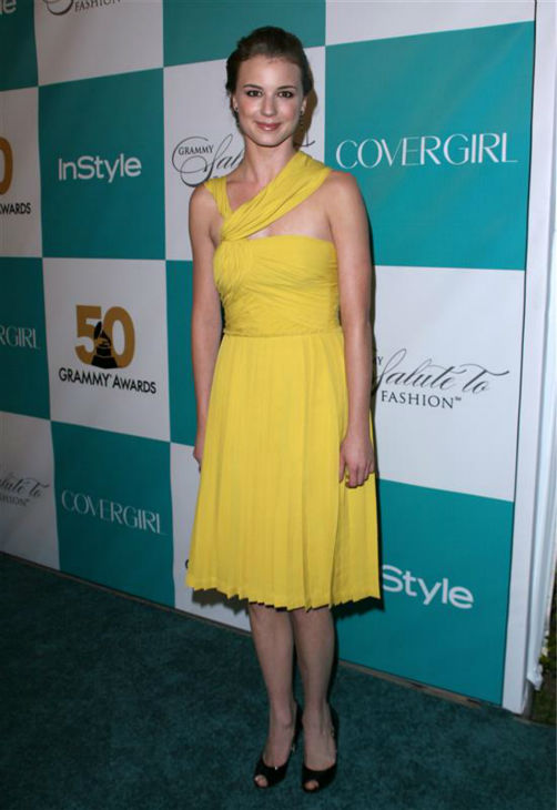 Emily VanCamp appears at the Recording Academy&#39;s and InStyle magazine&#39;s Grammy Salute To Fashion event at Boulevard 3 in Hollywood, California on Feb. 7, 2008.  <span class=meta>(Andy Fossum &#47; Startraksphoto.com)</span>