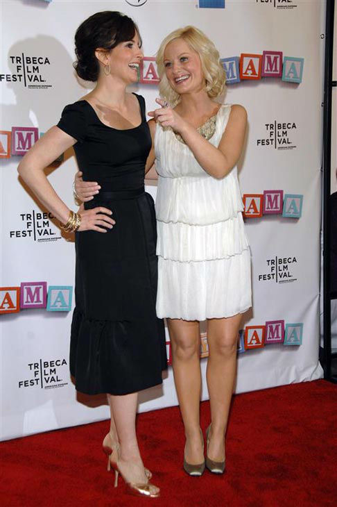 Tina Fey and Amy Poehler appear at the premiere of &#39;Baby Mama&#39; in New York on April 23, 2008. <span class=meta>(Dave Allocca &#47; Startraksphoto.com)</span>