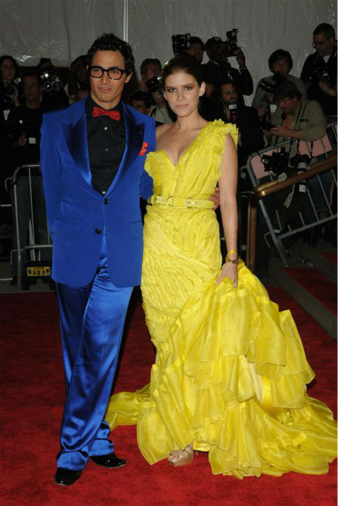 Kate Mara appears with designer Zac Posen at the Superheroes: Fashion and Fantasy Costume Institute Gala at the Metropolitan Museum of Art in New York on May 5, 2008.  <span class=meta>(Bill Davila &#47; Startraksphoto.com)</span>