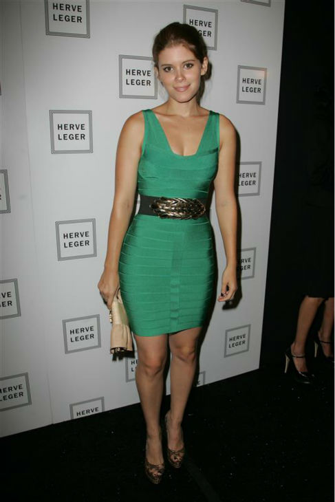 "<div class=""meta ""><span class=""caption-text "">Kate Mara appears backstage at the Herve Leger Max Azaria Spring 2009 fashion show during Mercedes-Benz Fashion Week in New York on Sept. 8, 2008. (Amanda Schwab / Startraksphoto.com)</span></div>"