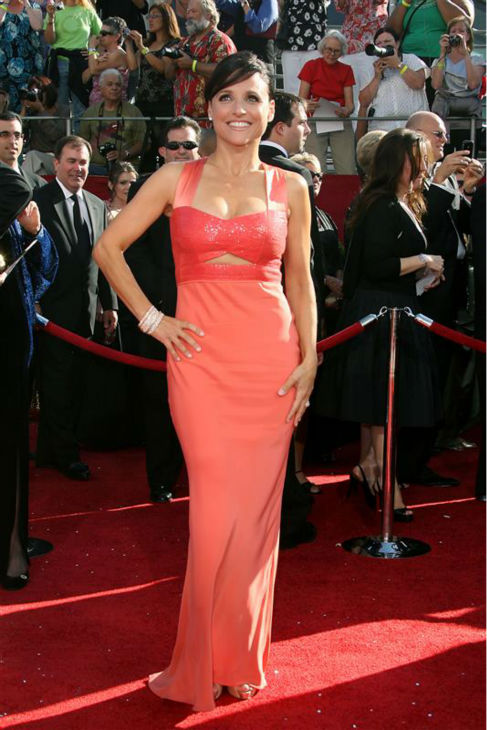 "<div class=""meta ""><span class=""caption-text "">Julia Louis-Dreyfus appears at the 2008 Emmy Awards in Los Angeles on Sept. 21, 2008. (Jen Lowery / Startraksphoto.com)</span></div>"