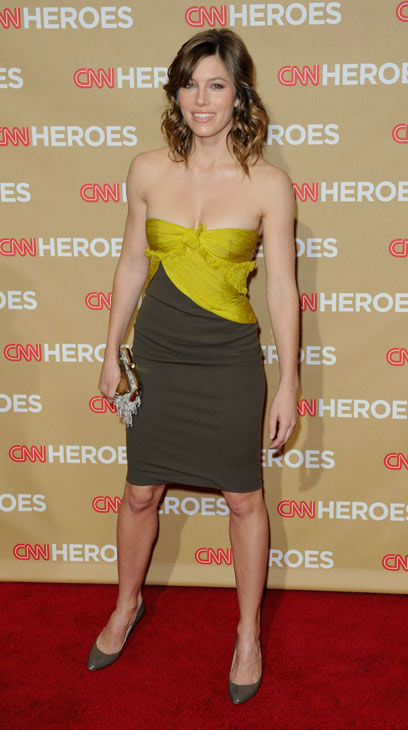 Actress Jessica Biel arrives at the CNN Heroes: An All Star Tribute awards show, Saturday, Nov. 22, 2008, in the Hollywood area of Los Angeles.