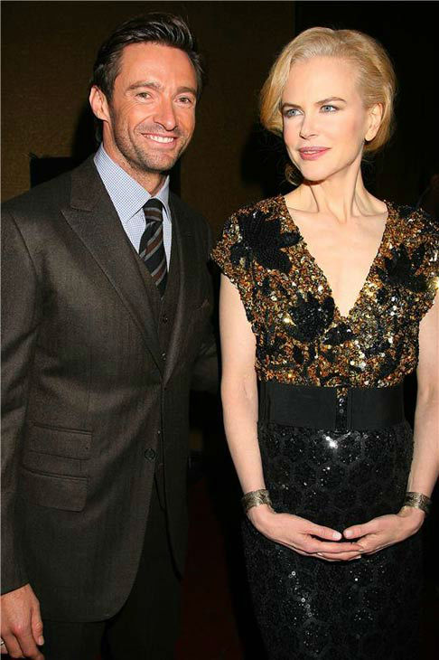 Nicole Kidman and Hugh Jackman appear at the New York premiere of 'Australia' on Nov. 24, 2008.