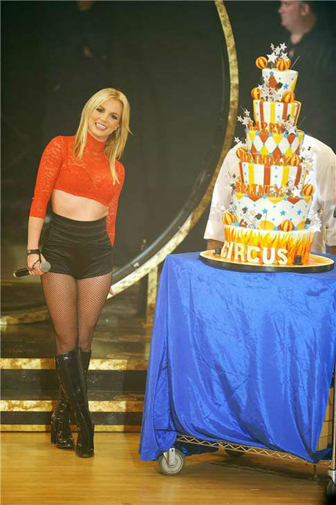 Britney Spears celebrates her 27th birthday and the release of her album &#39;Circus&#39; on Good Morning America on Dec. 2, 2008.  <span class=meta>(Bill Davila &#47; startraksphoto.com)</span>