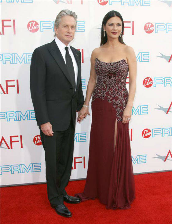 Michael Douglas and Catherine Zeta-Jones attend the 37th annual AFI Lifetime Achievement Awards in Culver City, near Los Angeles, on June 11, 2009. <span class=meta>(Andy Fossum &#47; Startraksphoto.com)</span>