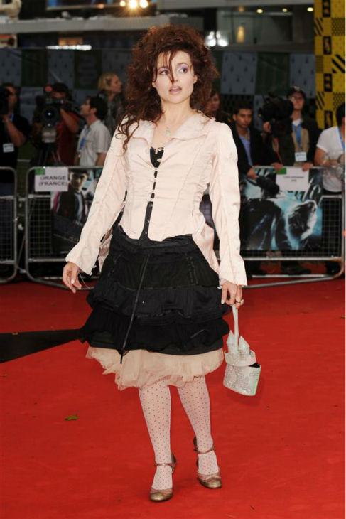 Helena Bonham Carter arrives at the premiere of &#39;Harry Potter and the Half Blood Prince&#39; in London on July 7, 2009. <span class=meta>(Nick Sadler &#47; Startraksphoto.com)</span>