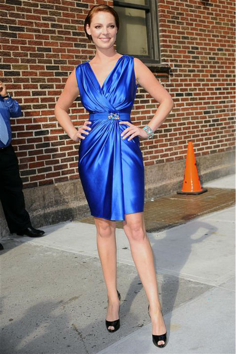 Katherine Heigl leaves a taping of &#39;The Late Show with David Letterman&#39; in New York on July 20, 2009. <span class=meta>(Humberto Carreno &#47; Startraksphoto.com)</span>