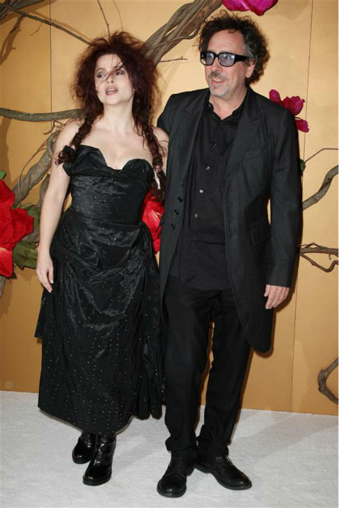 Helena Bonham Carter and partner Tim Burton appear at a Museum of Modern Art Film Benefit honoring the director in New York on Nov. 17, 2009. <span class=meta>(Amanda Schwab &#47; Startraksphoto.com)</span>