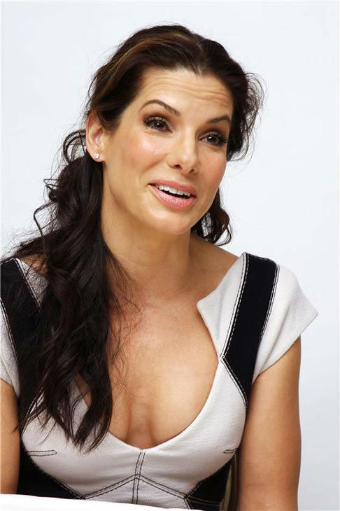 Sandra Bullock appears at a press conference for 'The Blind Side' in Los Angeles, California on Oct. 30, 2009.