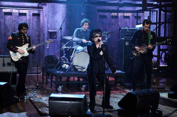 Yoko Ono Plastic Ono Band perform on the November 5, 2009 episode of 'Late Night with Jimmy Fallon.'