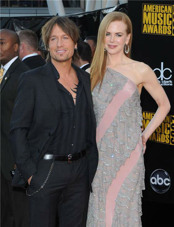 Nicole Kidman and Keith Urban appear at the 2009 American Music Awards on Nov. 22, 2009. <span class=meta>(Sara De Boer&#47;startraksphoto.com)</span>