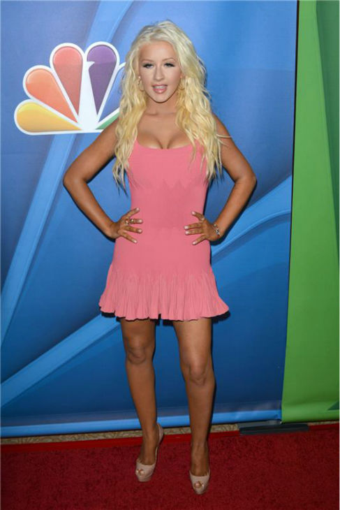 Christina Aguilera, a co-judge on the NBC singing competition series &#39;The Voice,&#39; walks the red carpet at the network&#39;s summer 2013 press tour event in Beverly Hills, California on July 27, 2013. <span class=meta>(Tony DiMaio &#47; Startraksphoto.com)</span>