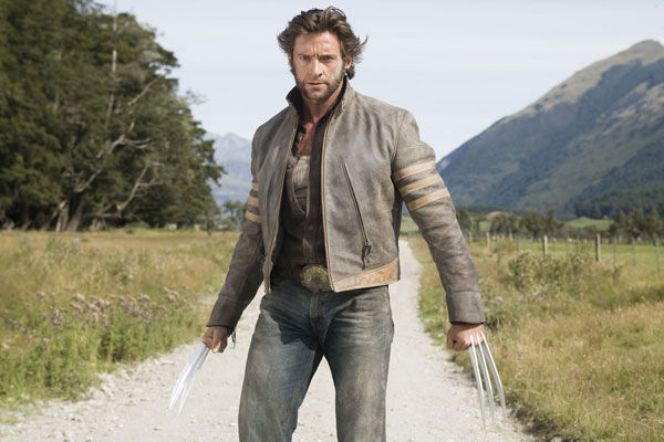 Hugh Jackman appears as Wolverine in a scene...