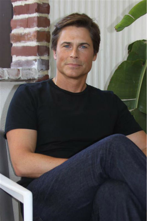 The time Rob Lowe was incredibly good-looking in a black T-shirt, at a press conference for &#39;Untouchable&#39; at the Hollywood Foreign Press Association&#39;s offices in West Hollywood, California on Jan. 18, 2012. <span class=meta>(Munawar Hosain &#47; Startraksphoto.com)</span>