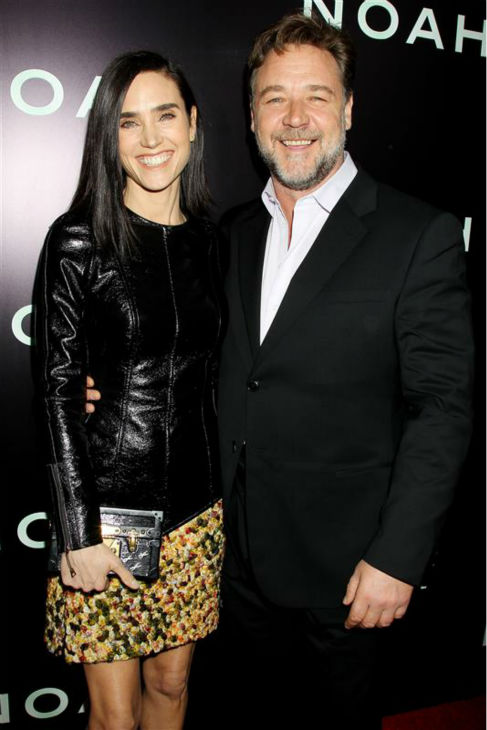 "<div class=""meta ""><span class=""caption-text "">Jennifer Connelly and Russell Crowe appear at the premiere of 'Noah' in New York on March 26, 2014. He plays Noah and she plays his wife, Naameh, in Darren Aronofsky's movie. The two and Connelly's husband, Paul Bettany,' all appeared in the 2001 movie 'A Beautiful Mind,' which earned the actress an Oscar. (Dave Allocca / Startraksphoto.com)</span></div>"