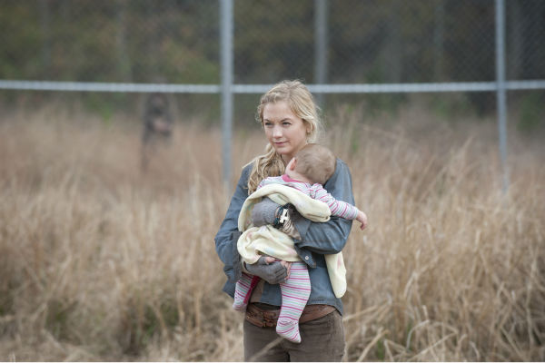 Beth Greene &#40;Emily Kinney&#41; holds baby Judith, Rick Grimes&#39; daughter, near the prison, in this scene from AMC&#39;s &#39;The Walking Dead&#39; season 4 finale, which aired on March 30, 2014. <span class=meta>(Gene Page &#47; AMC)</span>