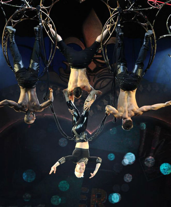 "<div class=""meta image-caption""><div class=""origin-logo origin-image ""><span></span></div><span class=""caption-text"">Pink performs an acrobatic stunt during her concert at the Honda Center in Anaheim, California on Jan. 29, 2014 as part of her Truth About Love tour. (Rockin Exposures / Startraksphoto.com)</span></div>"