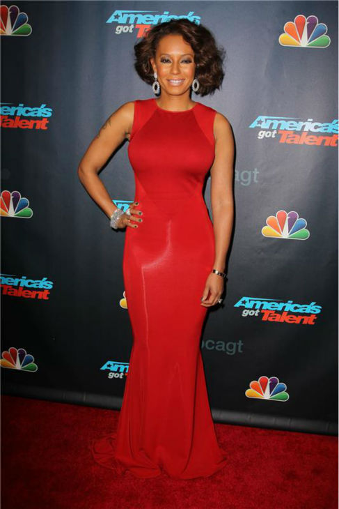 "<div class=""meta image-caption""><div class=""origin-logo origin-image ""><span></span></div><span class=""caption-text"">'America's Got Talent' co-judge Mel B poses on the red carpet after the season 8 finale at Radio City Music Hall in New York on Sept. 18, 2013. (Amanda Schwab / Startraksphoto.com)</span></div>"