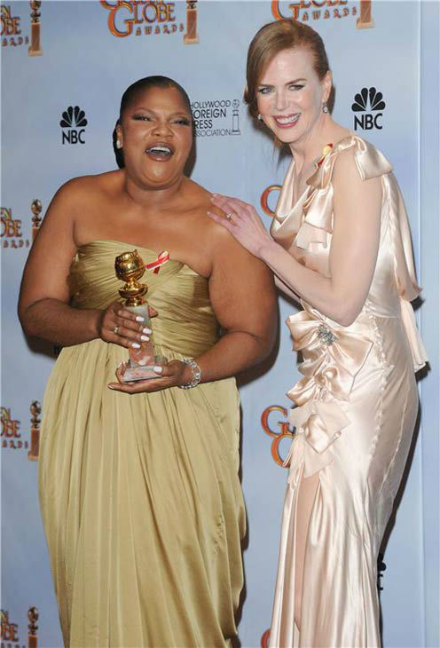 "<div class=""meta ""><span class=""caption-text "">Mo'nique and Nicole Kidman appear at the 67th Annual Golden Globe on Jan. 17, 2010. (KYLE ROVER/startraksphoto.com)</span></div>"