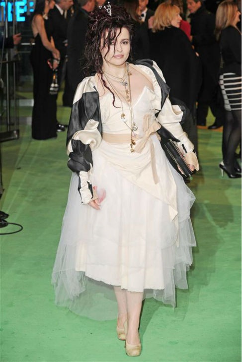 Helena Bonham Carter arrives at the premiere of partner Tim Burton&#39;s movie &#39;Alice In Wonderland&#39; in London on Feb. 25, 2010. <span class=meta>(Nick Sadler &#47; Startraksphoto.com)</span>