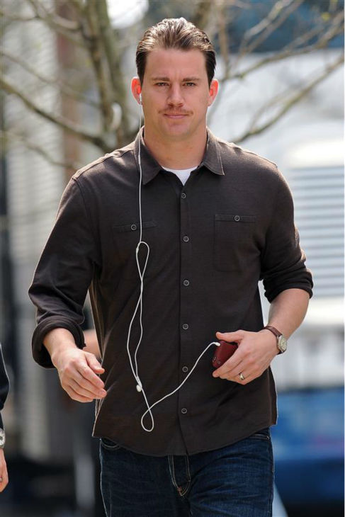 The &#39;Totally-Listening-To-&#39;90s-Jock-James&#39; stare: Channing Tatum appears near the set of the movie &#39;Son of No One&#39; in New York on April 6, 2010. <span class=meta>(Humberto Carreno &#47; Startraksphoto.com)</span>