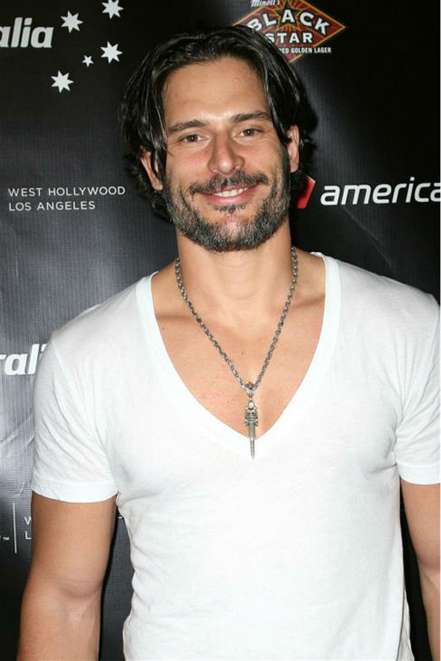 The &#39;I-Think-I-Like-The-White-Shirt-Better&#39; stare: Joe Manganiello appears at the Sunset Strip Music Festival, presented by Virgin America, in Los Angeles on Aug. 27, 2010. <span class=meta>(Norman Scott &#47; Startraksphoto.com)</span>