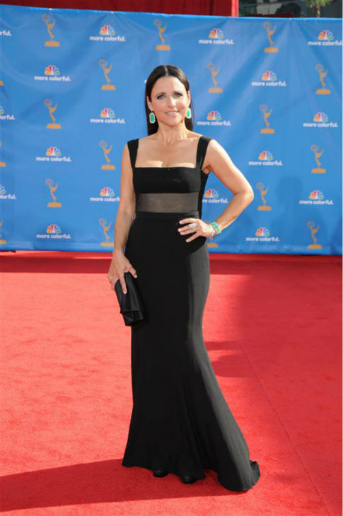 "<div class=""meta ""><span class=""caption-text "">Julia Louis-Dreyfus appears at the 2010 Emmy Awards in Los Angeles on Sept. 29, 2010. (Kyle Rover / Startraksphoto.com)</span></div>"
