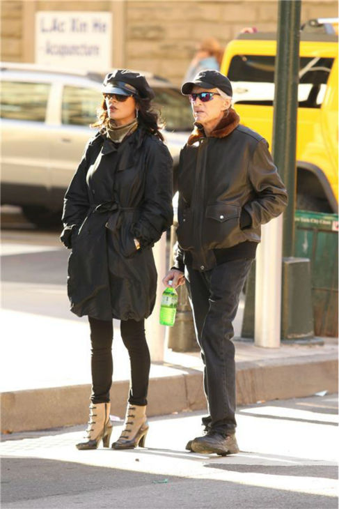 Catherine Zeta-Jones and Michael Douglas appear on a street in New York on Nov. 12, 2010. Onlookers said they joked around and