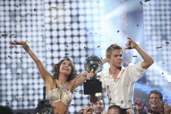 Jennifer Grey and Derek Hough were crowned the...