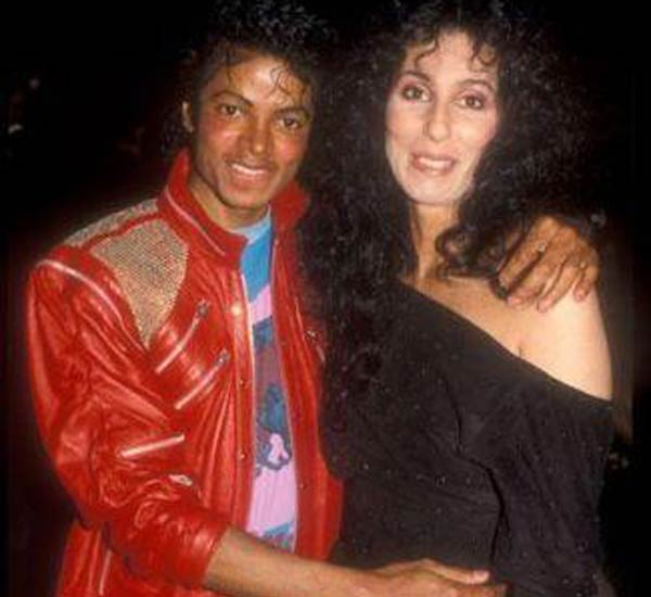 Cher and Michael Jackson pose in one of Cher's...