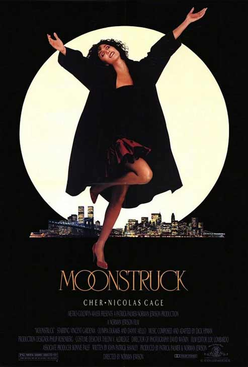 Promotional poster for the 1987 flick 'Moonstruck'
