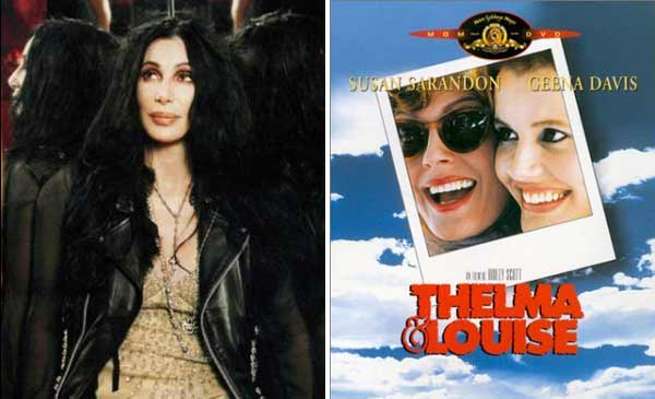Cher was originally offered the part of Thelma in &#39;Thelma &amp; Louise,&#39; but she turned it down. The role went to Geena Davis while Susan Sarandon played Louise.   <span class=meta>(MySpace&#47;MGM)</span>