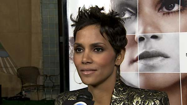 Halle Berry talks to KABC Television in this...