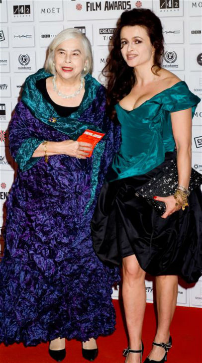Helena Bonham Carter and her mother, Elena Bonham, walk the red carpet at the 2010 British Independent Film Awards in London on Dec. 5, 2010. <span class=meta>(Max Fenton &#47; EPIX &#47; Startraksphoto.com)</span>