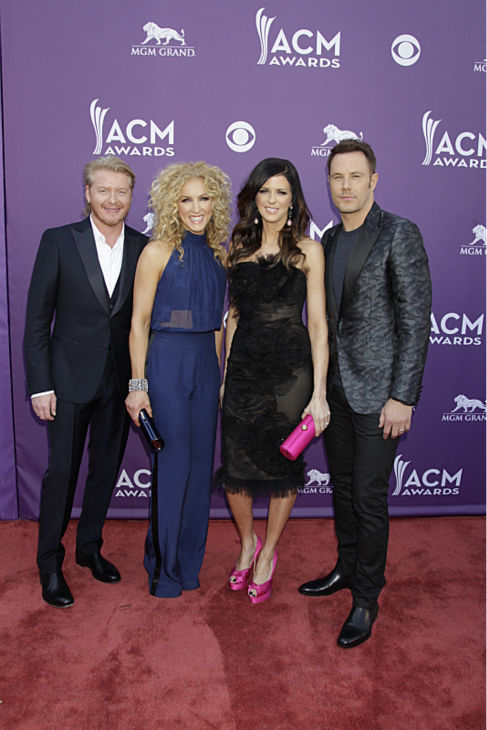 "<div class=""meta image-caption""><div class=""origin-logo origin-image ""><span></span></div><span class=""caption-text"">Little Big Town appears on the red carpet at the 48th annual Academy of Country Music (ACM) Awards. The ceremony was co-hosted by Luke Bryan and Blake Shelton and was broadcast live from the MGM Grand Garden Arena in Las Vegas on CBS on Sunday, April 7, 2013. (Francis Specker / CBS)</span></div>"