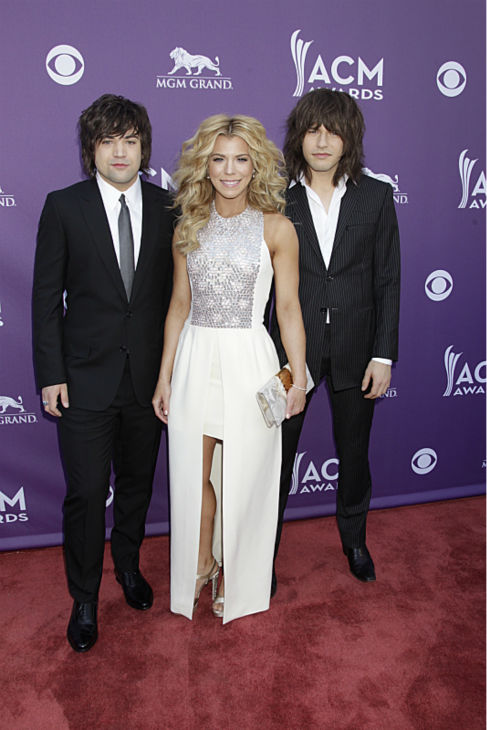 The Band Perry appears on the red carpet at the 48th annual Academy of Country Music &#40;ACM&#41; Awards. The ceremony was co-hosted by Luke Bryan and Blake Shelton and was broadcast live from the MGM Grand Garden Arena in Las Vegas on CBS on Sunday, April 7, 2013. <span class=meta>(Francis Specker &#47; CBS)</span>