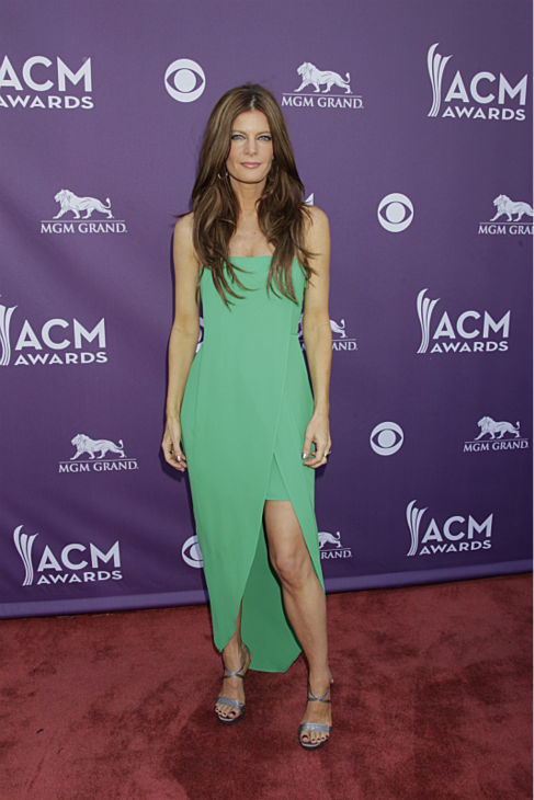 "<div class=""meta image-caption""><div class=""origin-logo origin-image ""><span></span></div><span class=""caption-text"">Michelle Stafford appears on the red carpet at the 48th annual Academy of Country Music (ACM) Awards. The ceremony was co-hosted by Luke Bryan and Blake Shelton and was broadcast live from the MGM Grand Garden Arena in Las Vegas on CBS on Sunday, April 7, 2013. (Francis Specker / CBS)</span></div>"