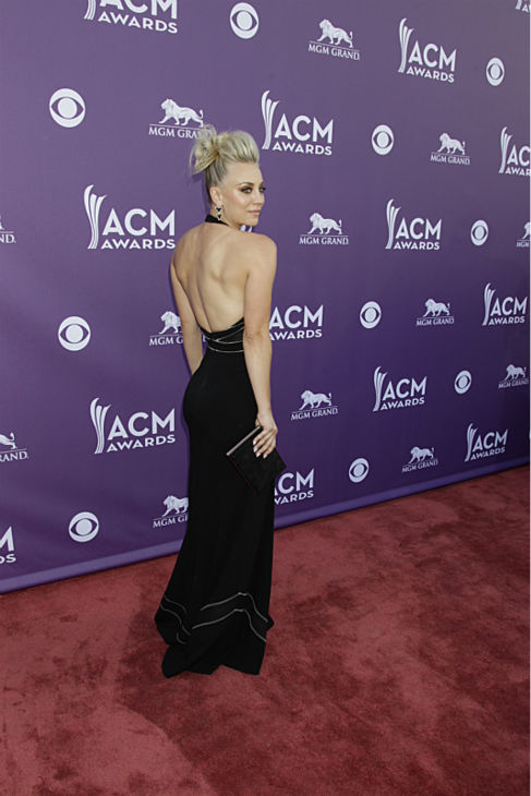 Kaley Cuoco, star of the CBS sitcom &#39;The Big Bang Theory,&#39; appears on the red carpet at the 48th annual Academy of Country Music &#40;ACM&#41; Awards. The ceremony was co-hosted by Luke Bryan and Blake Shelton and was broadcast live from the MGM Grand Garden Arena in Las Vegas on CBS on Sunday, April 7, 2013. <span class=meta>(Francis Specker &#47; CBS)</span>