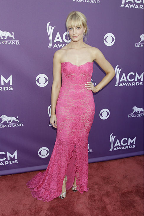 Beth Behrs of the CBS sitcom &#39;2 Broke Girls&#39; appears on the Red Carpet at the 48th annual Academy of Country Music &#40;ACM&#41; Awards. The ceremony was co-hosted by Luke Bryan and Blake Shelton and was broadcast live from the MGM Grand Garden Arena in Las Vegas on CBS on Sunday, April 7, 2013. <span class=meta>(Francis Specker &#47; CBS)</span>