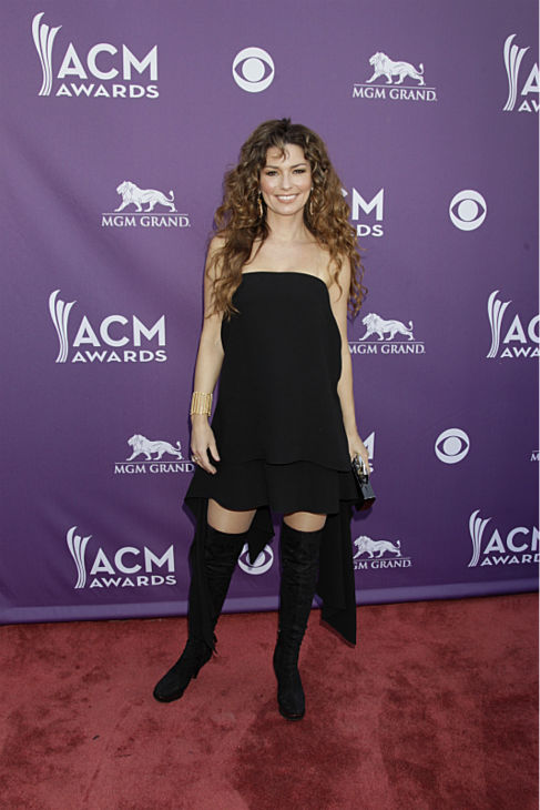 Shania Twain appears on the red carpet at the 48th annual Academy of Country Music &#40;ACM&#41; Awards. The ceremony was co-hosted by Luke Bryan and Blake Shelton and was broadcast live from the MGM Grand Garden Arena in Las Vegas on CBS on Sunday, April 7, 2013. <span class=meta>(Francis Specker &#47; CBS)</span>