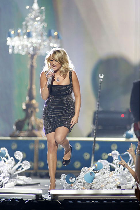 Miranda Lambert performs at the 48th annual Academy of Country Music &#40;ACM&#41; Awards. The ceremony was co-hosted by Luke Bryan and Blake Shelton and was broadcast live from the MGM Grand Garden Arena in Las Vegas on CBS on Sunday, April 7, 2013. <span class=meta>(Adrian Sanchez-Gonzalez &#47; CBS)</span>