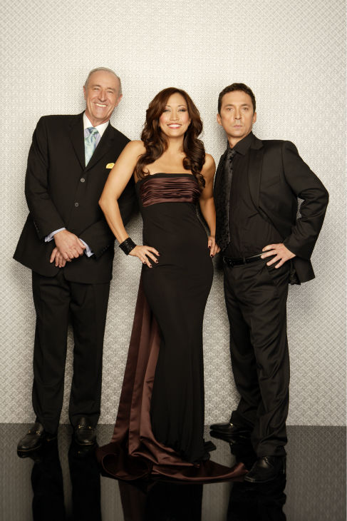 &#39;Dancing with the Stars&#39; judges Len Goodman, Carrie Ann Inaba and Bruno Tonioli appear in a promotional photo ahead of the season 17 premiere on Sept. 16, 2013. <span class=meta>(ABC Photo &#47; Bob D&#39;Amico)</span>