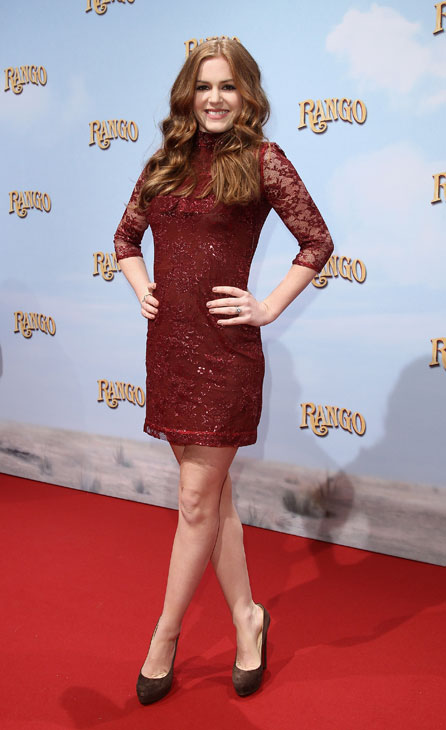 Actress Isla Fisher attends the 'Rango' Germany Premiere at Cinema Kulturbrauerei on February 20, 2011 in Berlin, Germany.