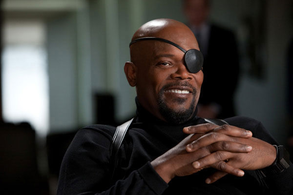 Samuel L. Jackson appears in a scene from &#39;Iron Man 2&#39; as Nick Fury, director of S.H.I.E.L.D. Jackson first played the role in the 2008 film &#39;Iron Man&#39; and donned the eye patch one more time in the 2008 film &#39;The Incredible Hulk.&#39; The actor is set to reprise the role in the upcoming film &#39;The Avengers,&#39; set to hit theaters in May 2012. <span class=meta>(Marvel Studios)</span>