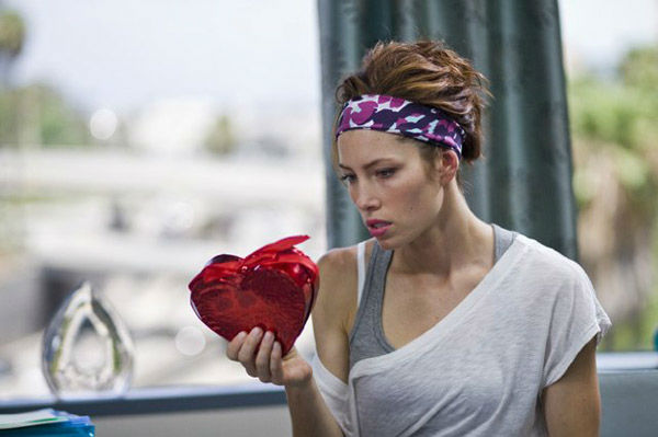 Jessica Biel appears in a still from the 2010 film, 'Valentine's Day.'