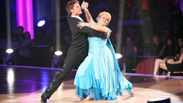 Television host Nancy Grace and her partner Tristan Macmanus received 21 out of 30 from  the judges for their Waltz on the October 3 episode of &#39;Dancing With The Stars.&#39; <span class=meta>(ABC Photo)</span>