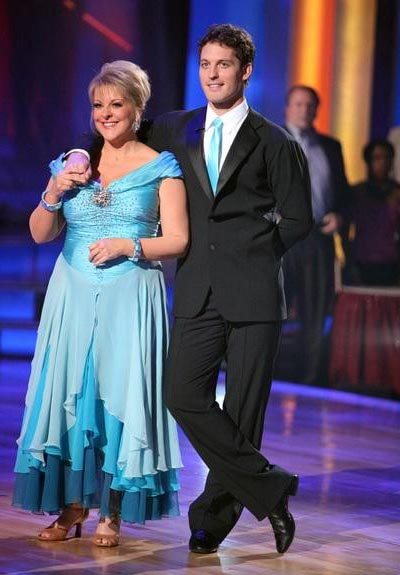 "<div class=""meta ""><span class=""caption-text "">Television host Nancy Grace and her partner Tristan Macmanus received 21 out of 30 from  the judges for their Waltz on the October 3 episode of 'Dancing With The Stars.' (ABC Photo)</span></div>"