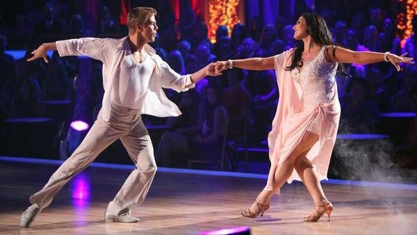 Talk show host and actress Ricki Lake and her partner Derek Hough received 27 out of 30 from the judges for their Rumba on the October 3 episode of 'Dancing With The Stars.'