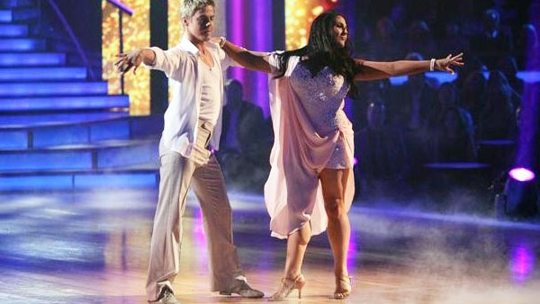 Talk show host and actress Ricki Lake and her partner Derek Hough received 27 out of 30  from the judges for their Rumba on the October 3 episode of &#39;Dancing With The Stars.&#39; <span class=meta>(ABC Photo)</span>