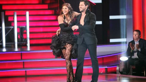 U.S. soccer star Hope Solo and her partner Maksim Chmerkovskiy received 24 out of 30 from the judges for t